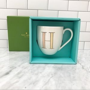 """Authentic Kate Spade """"It's Personal"""" Initial Mug H"""